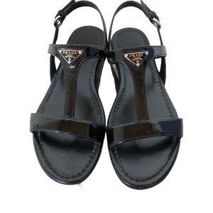 Authentic Prada T-strap sandal